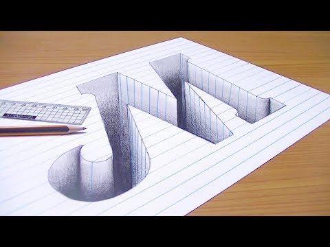 Youtube 3d Art Drawing 3d Drawing Tutorial 3d Drawings