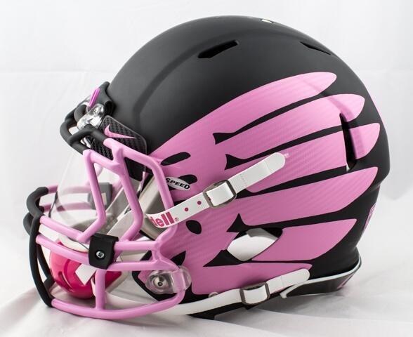 "Oregon Ducks ""Breast Cancer Awareness"" Helmets"