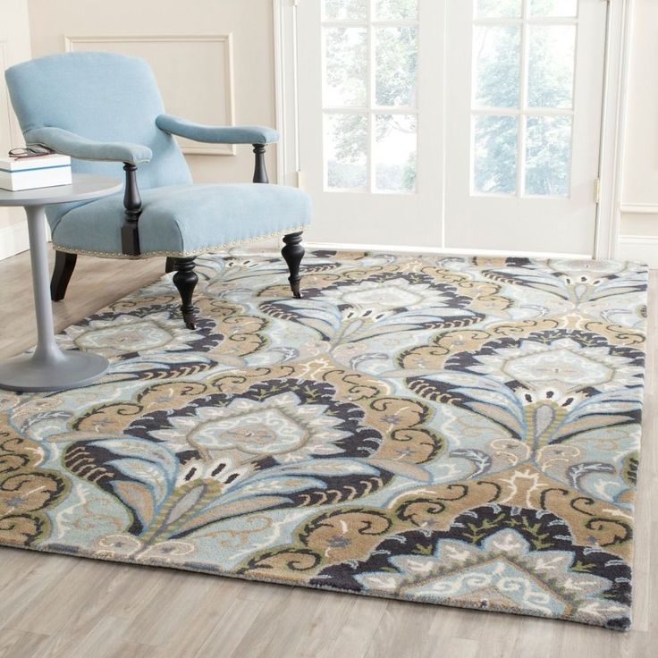 safavieh handmade chatham motif blue new zealand wool rug 5u0027 x 8u0027 by safavieh