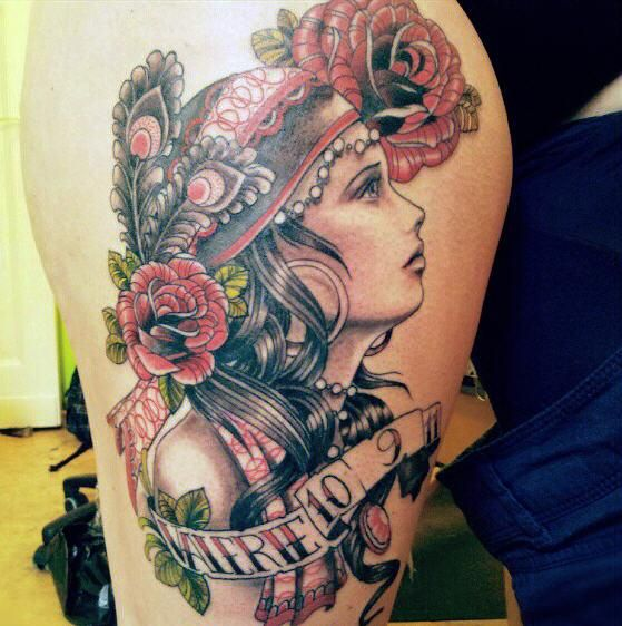 gypsy girl tattoo - 50 Amazing Girl Tattoo Designs  <3 <3