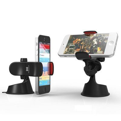 Exogear Exomount 2 Universal Car Mount for iPhone 5 Android Phone GPS Black by IDS. $24.99. World's best suction cup provides a secure mount on almost any flat surface.  Polyurethane grip with reinforced springs and tension system securely holds your iPhone, iPod, smart phone, GPS and everything else in between.  Package Includes: 1 x  Car Mount Holder