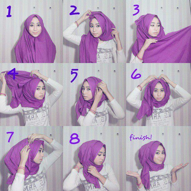 Tutorial Hijab Simple Casual