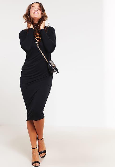 Missguided Plus Sukienka z dżerseju - black - Zalando.pl