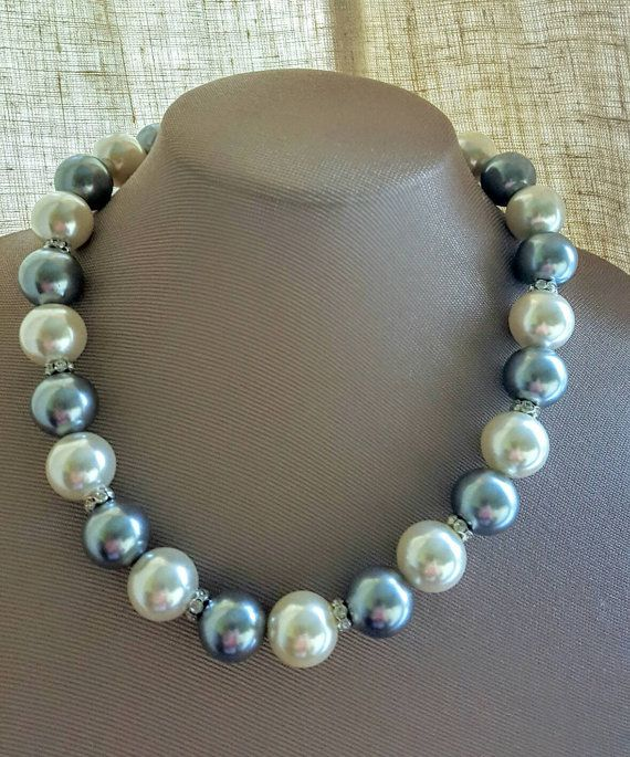 Check out this item in my Etsy shop https://www.etsy.com/ca/listing/465151376/chunky-extra-large-grey-and-ivory-faux