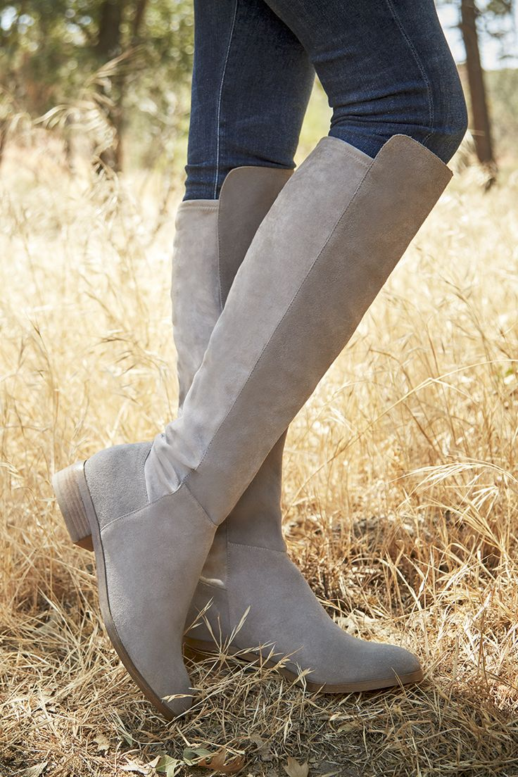 Casual suede boots with stretchy back panels | Sole Society Calypso