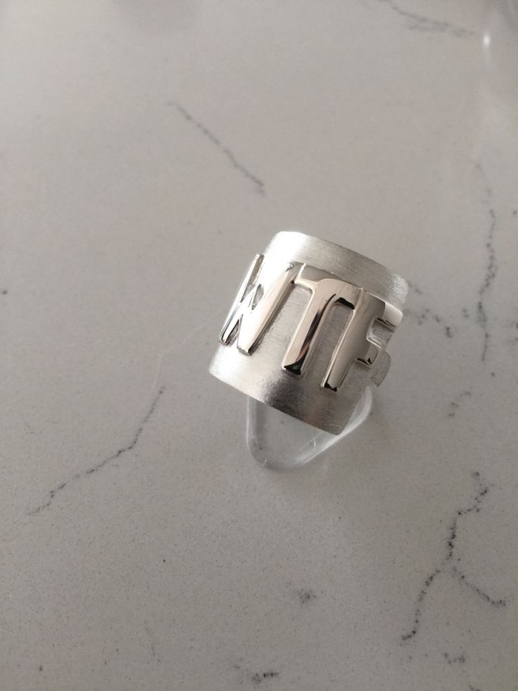 Sterling silver WTF ring.