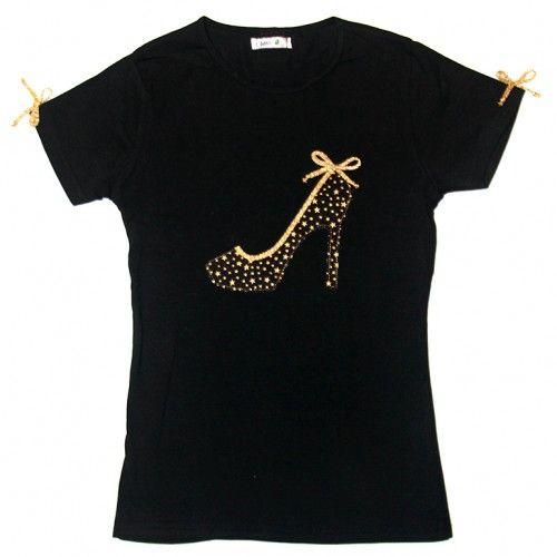 Zapato de Tacón dorado