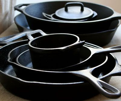 my mom is the great cast iron cook! cast iron pots & pans from stove to oven. treat them like heirlooms you will pass along.