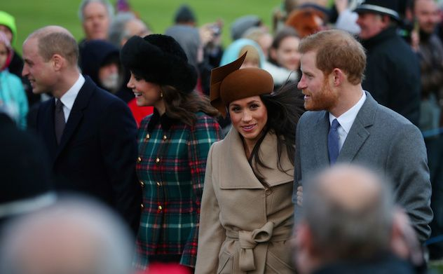 Royal Merry ChristmasPrince William and Kate Middleton joined Prince Harry and Meghan Markle on the short walk to St Mary Magdalene Church for Christmas Day Mass.Meghan Markle has become the first fiancee to join the Royal Family at Sandringham for Christmas.Kate Middleton showed off a small baby bump alongside husband, Prince William