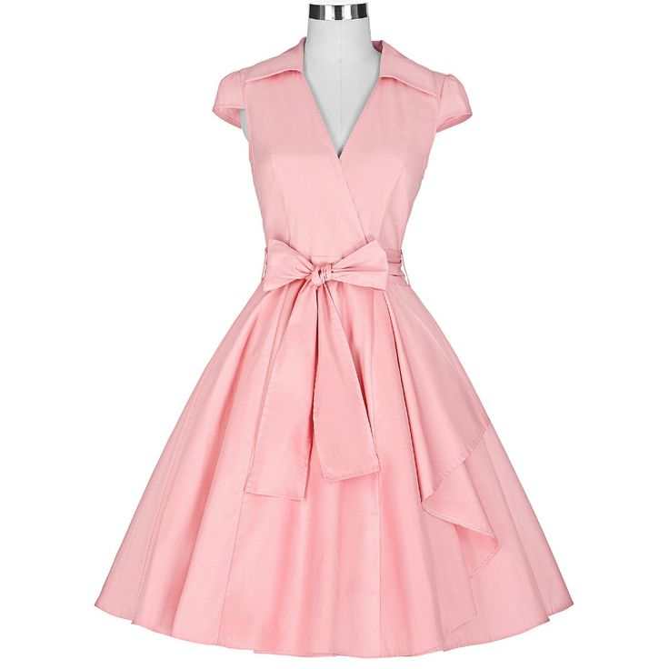 Summer Dress 2016 Sexy V Neck Vestido Jurken Women Party Dresses With Belt Robe Rockabilly 50s 60s Retro Vintage Dress Plus Size *** Want to know more, click on the image.