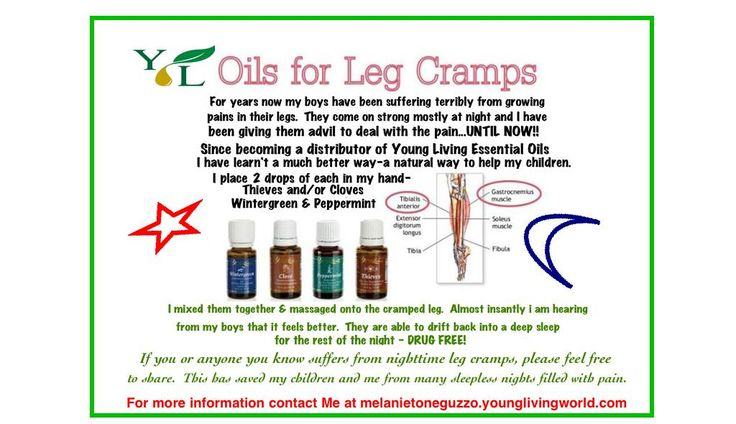 Young Living Essential Oils for Leg Cramps - Try a natural alternative, you and yourr children are worth it!