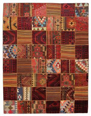 Lauritz.com - Orientaliska mattor - Matta, Kelim patchwork 315x240cm - SE, Helsingborgs Auktionsverk / Lauritz.com, Makadamgatan
