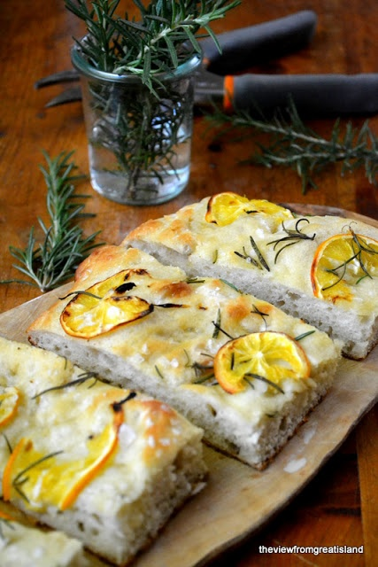 Meyer Lemon and Rosemary Focaccia
