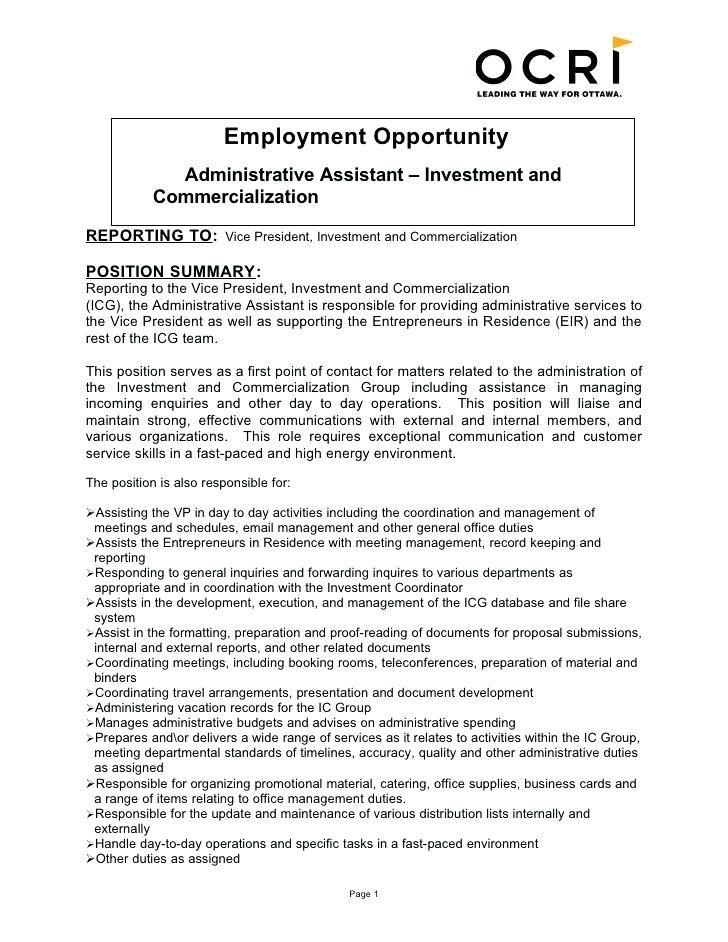 Resume For Administrative Job Resume For Administrative Administrative Assistant Jobs Administrative Assistant Job Description Administrative Assistant Resume