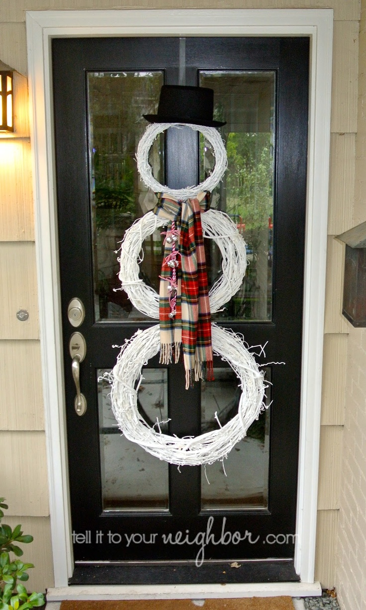 tell it to your neighbor!: Snowman Wreath, Dip Baby Dip