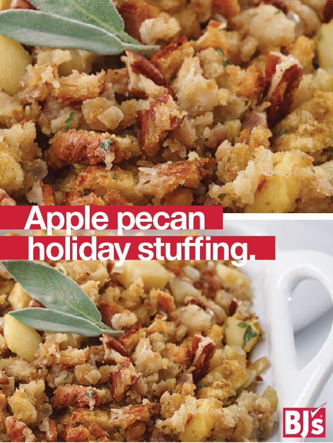 Semi-Homemade Stuffing - Make old-fashioned holiday stuffing the easy way with boxed stuffing mix, Country Crock and fresh ingredients from BJ's. http://stocked.bjs.com/food/recipes/apple-pecan-holiday-stuffing
