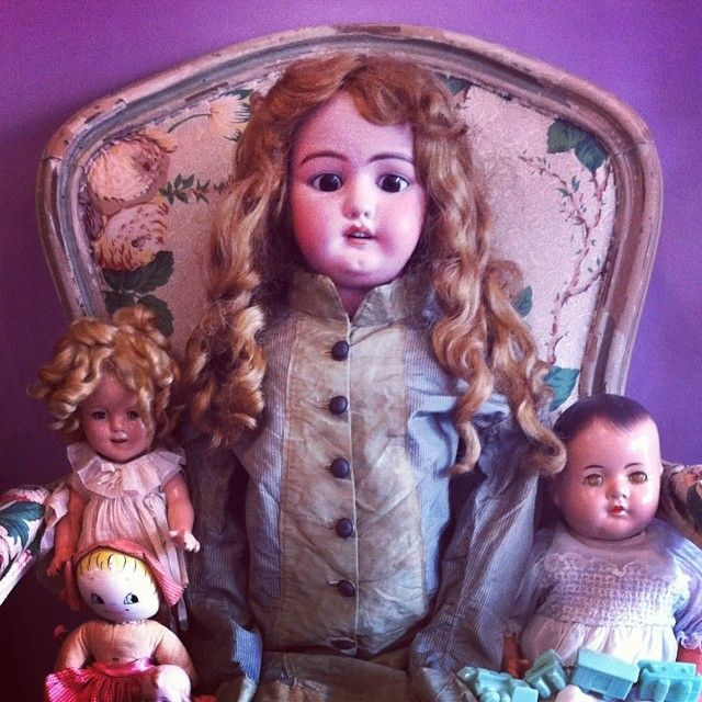 Vintage dolls, antique german bisque, Madame Alexander, Shirley Temple