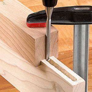 Chisels: The joint-maker's edge  Uses: Trim smooth walls and square ends on drilled mortises, see photo; on hand-cut dovetails, slice straight lines for clean joints and shave pins to fit the tails; square stopped rabbets