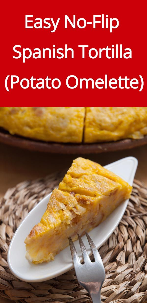 Spanish Tortilla Recipe - this is the easiest recipe for Spanish potato omelette as it doesn't require flipping! | MelanieCooks.com