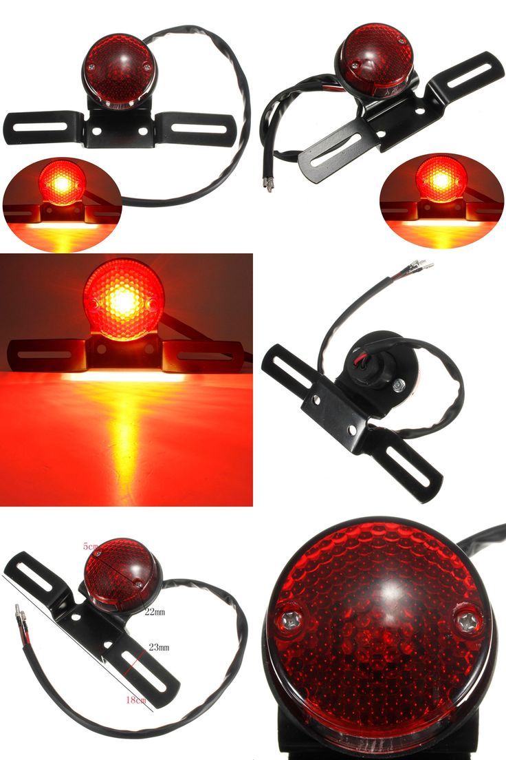 [Visit to Buy] Motorcycle Bike Rear Tail Brake Stop Number Plate Light For Harley For Chopper/Bobber #Advertisement