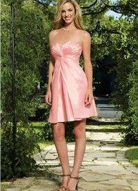 Informele Glamoureuze Mid Terug Korte Bruidsmeisjes Jurk