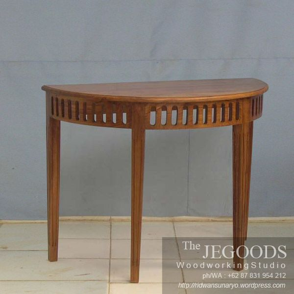 Simple minimalist contemporary wall table furniture made of solid teak wood Indonesia. Best traditional #handmade craftsmanship with high quality at affordable price. #teakfurniture #sidetable #furniturefactory #furniturewarehouse #teaktable #colonialfurniture #indonesiafurniture