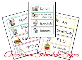 Classroom Freebies: Daily Schedule Cards