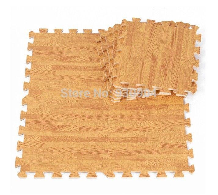 New 9 sqft Wood Interlock Heavy Duty Foam Floor Puzzle Work Gym Mat Beige-in Mat…
