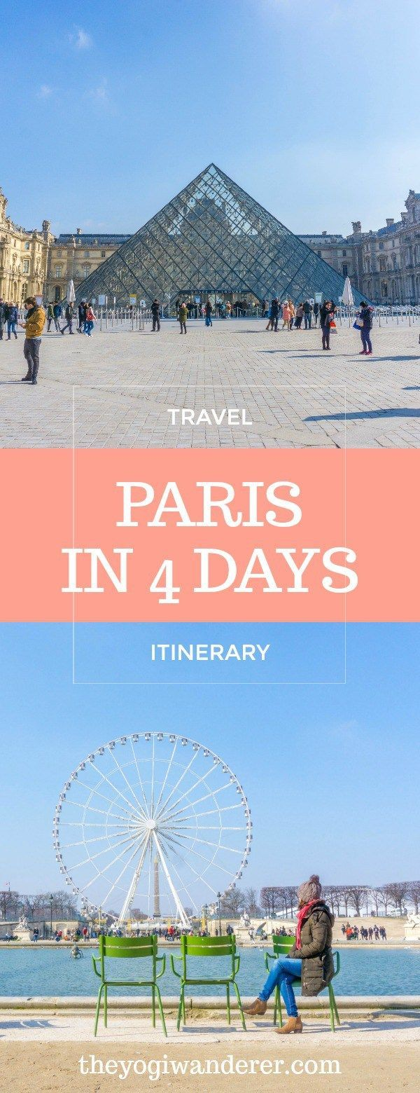 Paris 4 day itinerary for first-timers going to Paris, France! #Travel #France #Europe