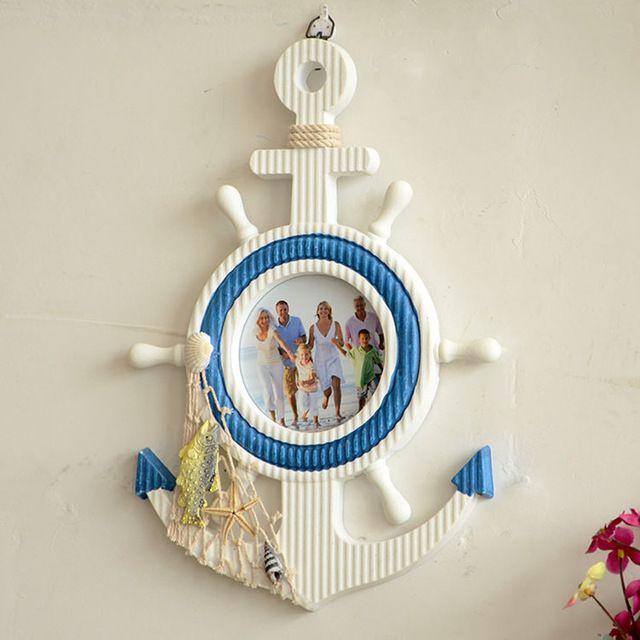 Деревянный якорь Mediterraneo старинные настенные навигацион домашнего декора навигацион Zakka якорь…