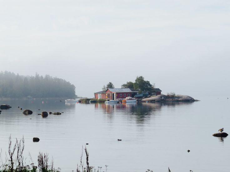 Finnish sea landscape; Lauttasaari
