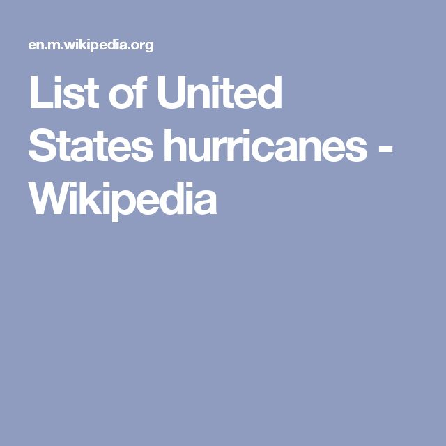 List of United States hurricanes - Wikipedia