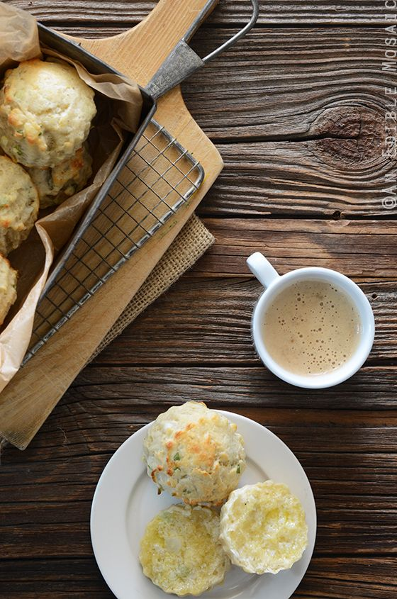 Savory Scallion and Cheese Scones | An Edible Mosaic