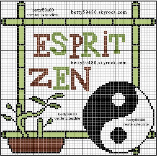 Pays - country - asie zen - point de croix - cross stitch - Blog : http://broderiemimie44.canalblog.com/