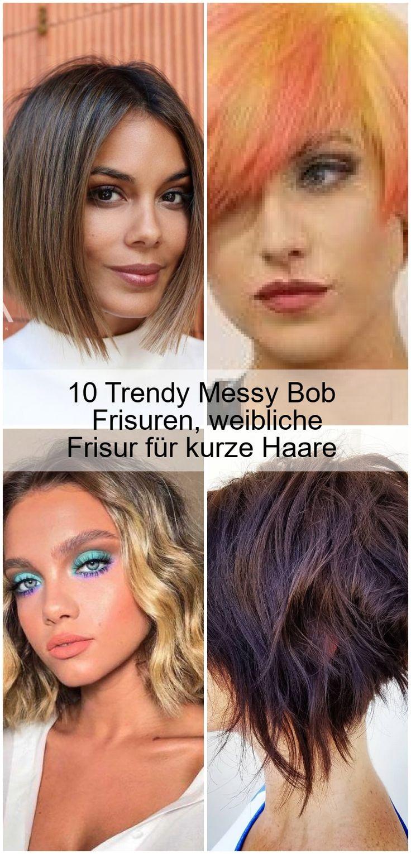10 trendy messy bob frisuren, weibliche frisur für kurze