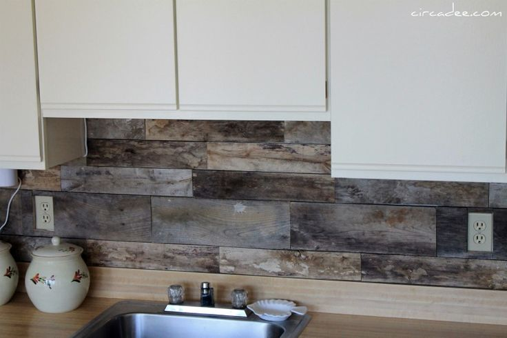 Cheap diy rustic kitchen backsplash for Cheap ideas for kitchen backsplash
