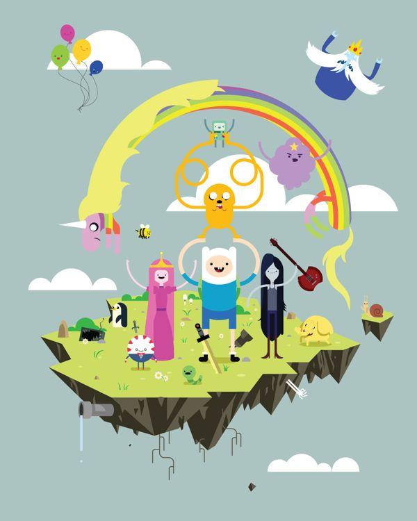 Adventure Time by Dan Schlitzkus, via Behance