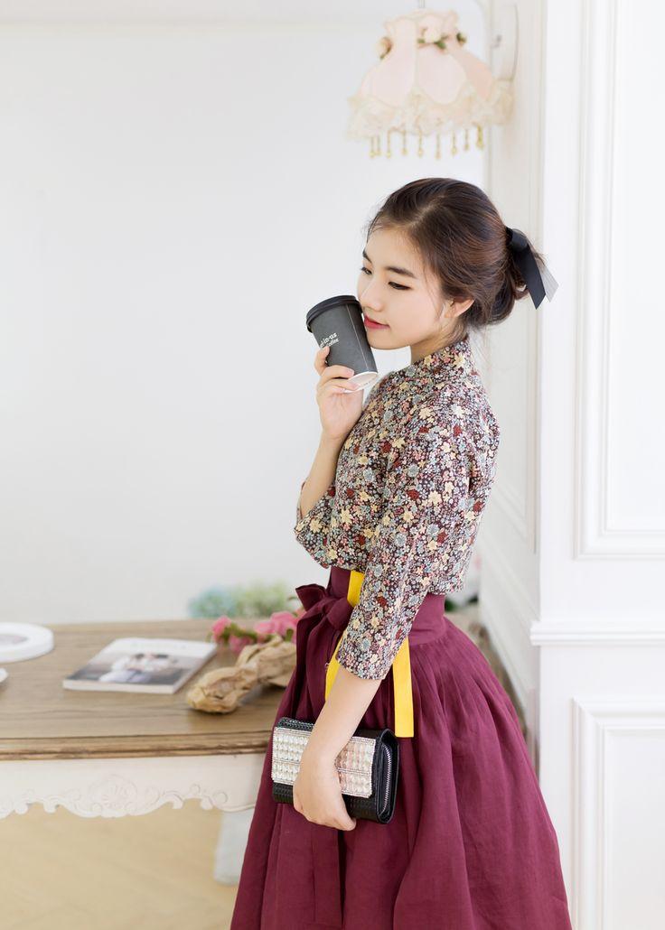 채송화 생활한복 저고리 긴팔/7부 : 다래원 한복