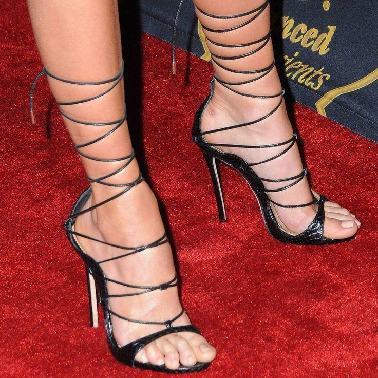 Charlotte McKinney #charlottemckinney #highheels #heels #highheelsandals #laceupsandals #feet #celebrityfeet #toes #legs #leggy #shoes #stilettos #tacones #talons #fashion #style #celebrities #feetstagram