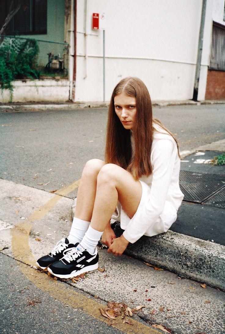 White Socks With Reebok Runners  Fashion Photoshoot -5605