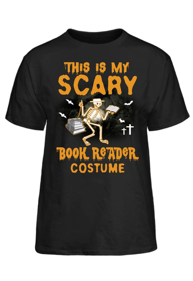 This Is My Scary Book Reader Costume T-Shirt