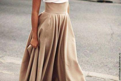 Юбка в пол - бежевый,юбка,юбка в пол,юбка солнце,юбка длинная,смесовая ткань