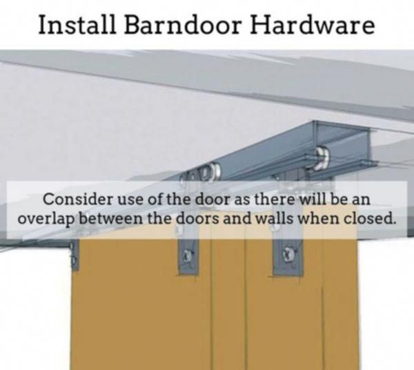 Black Barn Door Hardware | Outdoor Barn Door Track System