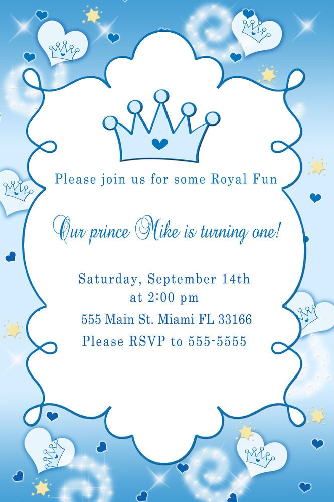 30 Little Prince Baby Boy Shower Birthday Party Invitation