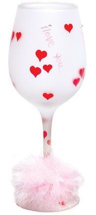 """Lolita Retired Wine Glass """"I Love You"""" GLS11-5585U by Santa Barbara Design Studio. $23.75. Hand Painted. Lolita Wine Glass. Each glass comes in its own gift box. Hand Blown. I Love You. """"Love My Wine"""" by Lolita Retired We are proud to present """"Love my Wine"""" wine glasses by Lolita Retired. Each hand painted Lolita Retired Wine Glass features a design inspired by a delicious wine cooler recipe, which is hand painted on the bottom of the glass!  These glasses fea..."""