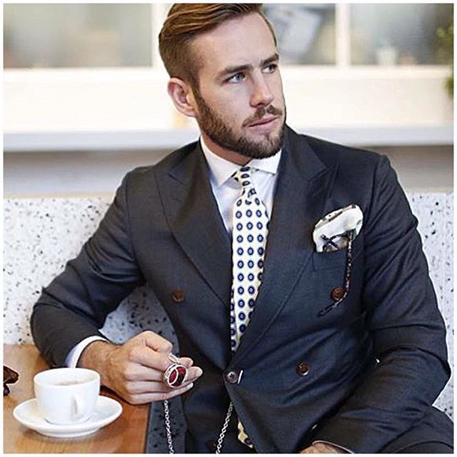 Repost: @wearingmemories - We think @shaunbirley looks very dapper in our Men's Couture Fob Chain www.wearingmemories.com…