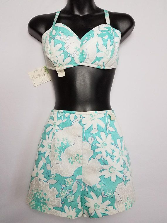 Vintage Swimsuit DEADSTOCK With Tags 1950's Two-Piece
