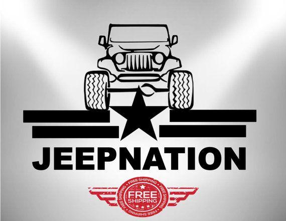 Sticker de jeep de la Nation Jeep Decal JEEPNATION /