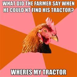 Anti Joke Chicken... AHHHH! @Olivia García Medemblik!