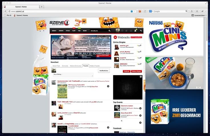 Cini Minis - Sitebranding auf Szene1.at